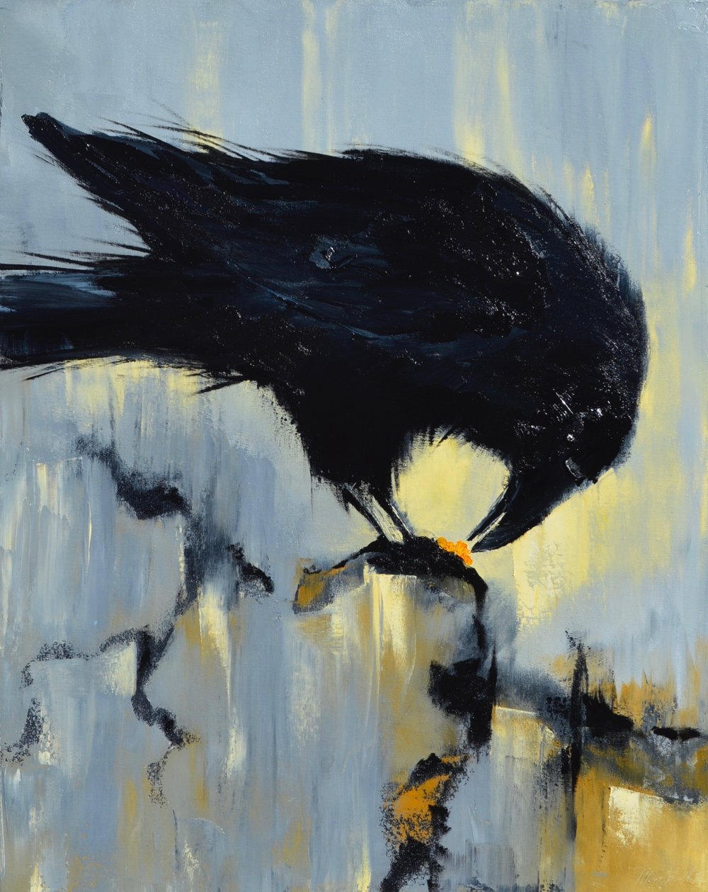 "Ravenous, Oil on canvas, 30"" x 24"", $3,600"
