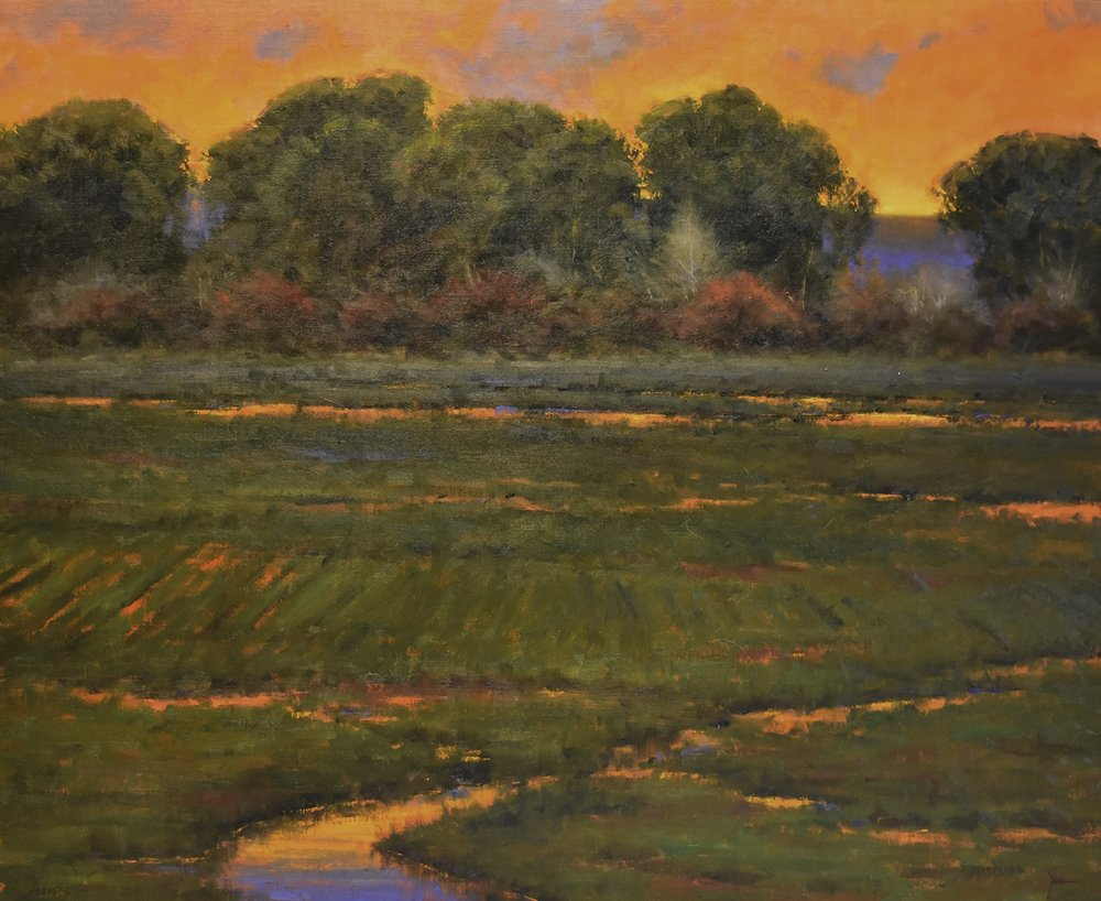 "Dan Young, At Dusk, 37"" x 43"", oil on linen"
