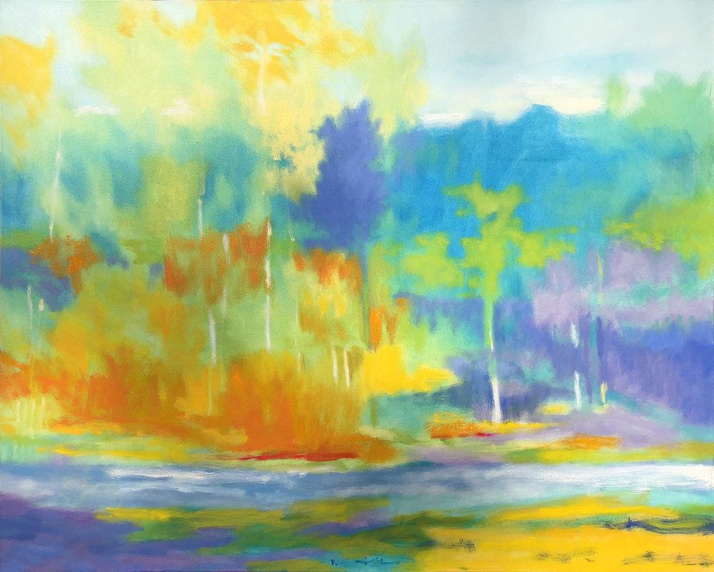 Noice Riffles, Boulder River Oil on Canvas 48 x 60 unframed - HR.jpg