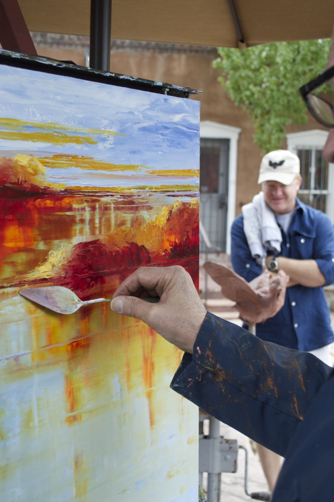 Mark White painting en plein air.