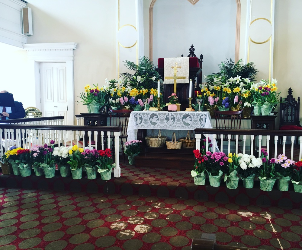 Easter Alter Flowers - Old First UCC