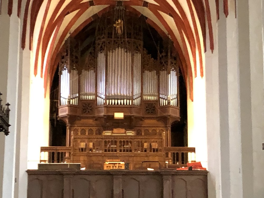 The organ of the Thomaskirche
