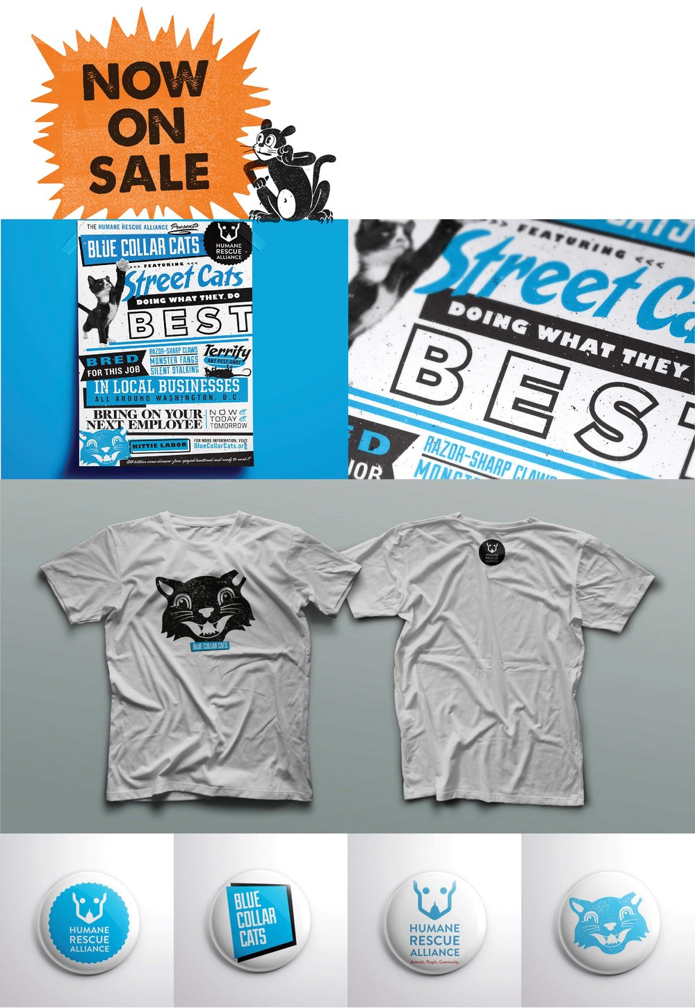 Buy swag here : humanerescuealliance.org/category/apparel            Blue Poster and swag // Roll: Creative Director // Art Director: Anthony Romano // Copy: Neil Pohl
