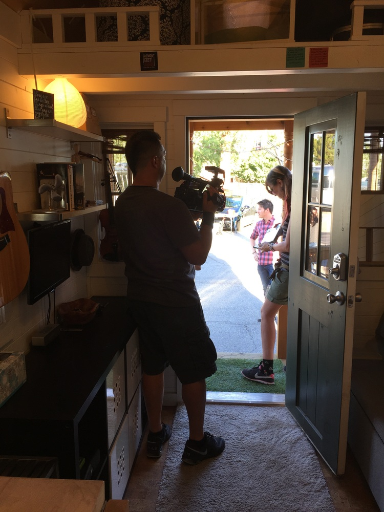 HGTV filming my Tiny House Daniel Park Music