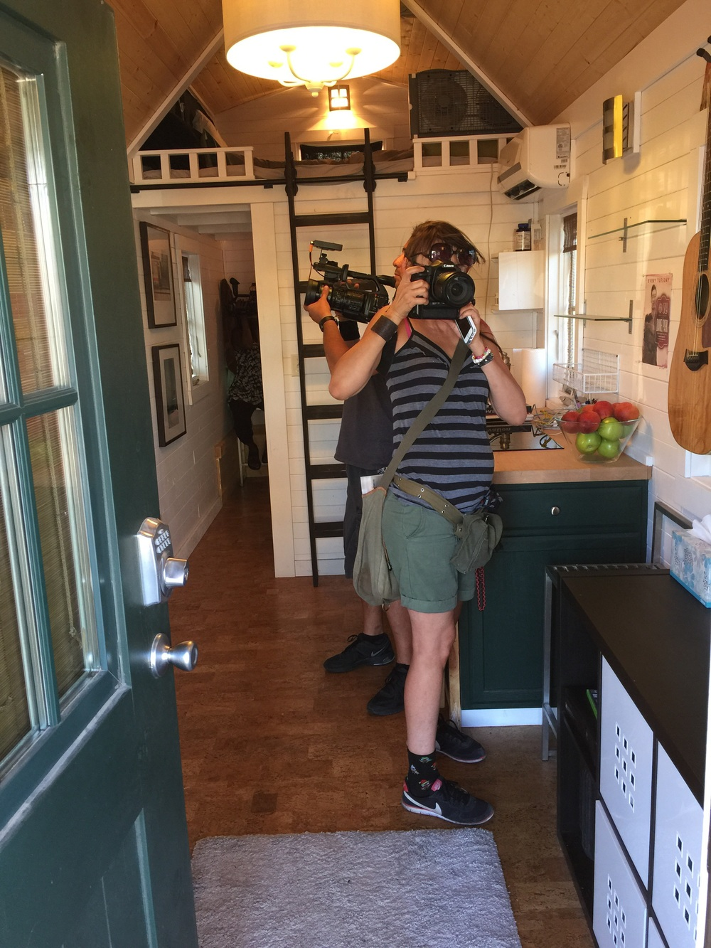HGTV filming my Tiny House Daniel Park Music