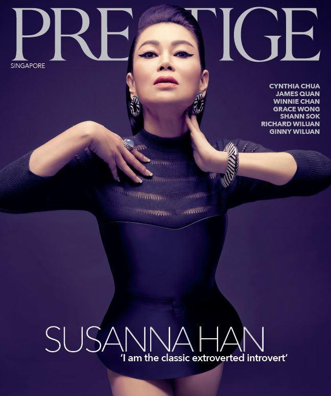 December 2018 Cover of Prestige Magazine (Singapore)