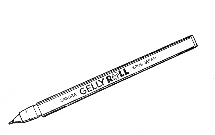 30 years of gelly roll Drawing with calligraphy pens
