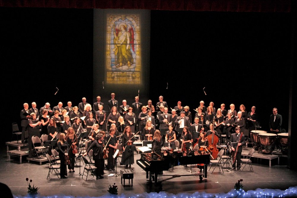 The CSO is the hub for musical artistic life in Chilliwack. The orchestra and chorus, in addition to formal concerts, also perform at our annual fund raising gala, The Note-able Feast. Members of the CSO also perform as small ensembles at various functions.  The Chilliwack Symphony Orchestra and Chorus designs its performances to meet the musical tastes of Chilliwack and surrounding communities. Our concerts will include a variety of musical genres, such as Classical, Light Classical, Popular, Broadway and Jazz. The Chilliwack Symphony Orchestra and Chorus frequently consists of a 40-piece orchestra, 75-member chorus, 12 voice a cappella group, as well as a 20 voice ladies show choir.