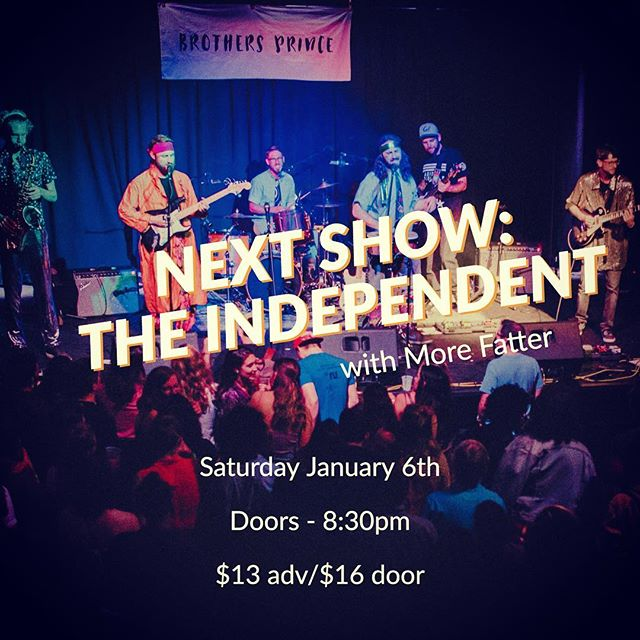 We are beyond excited to announce we are headlining the Independent in SF with @morefatter on 1/6/18! Tickets on sale Friday. Mark your calendars!