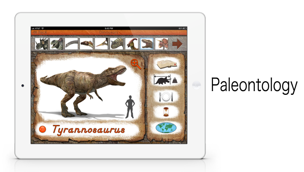 Dinosaurs app by Mobile Montessori