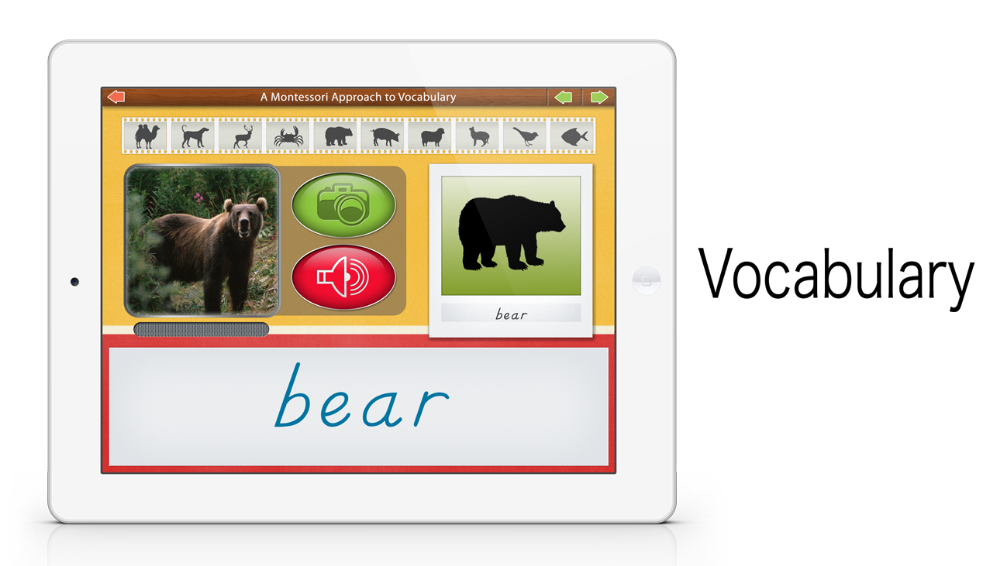 Vocabulary - Animals by Mobile Montessori
