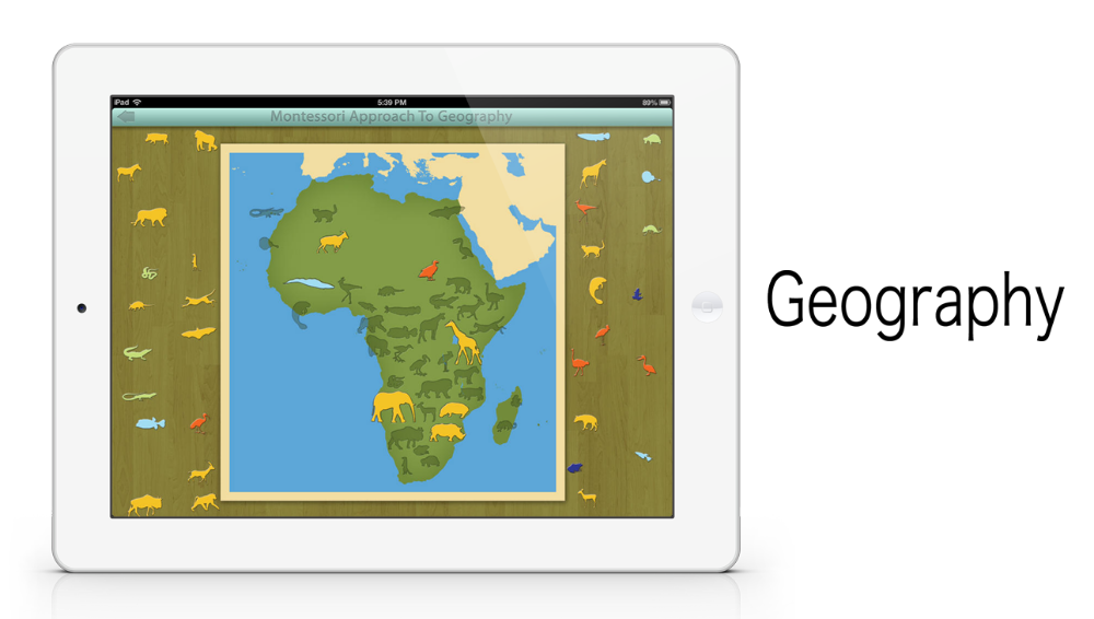 Animals of Africa app by Mobile Montessori
