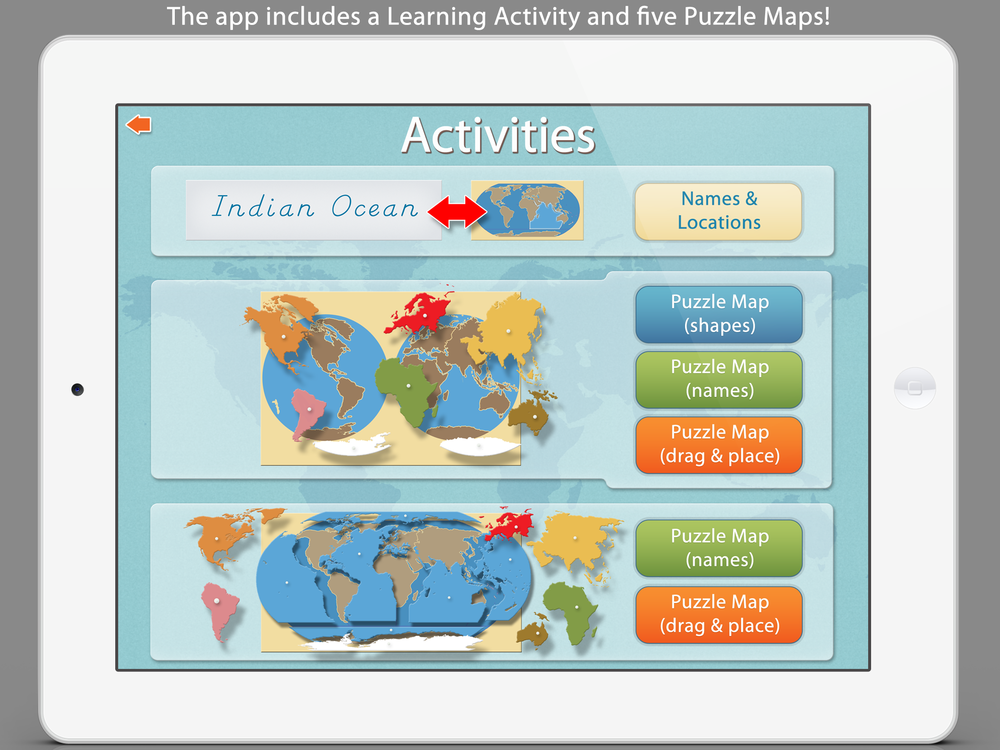 World Continents And Oceans Mobile Montessori