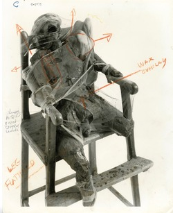 Bruce Conner, CHILD (1959-60), with 1996 annotations by Conner. Image courtesy of MoMA, New York