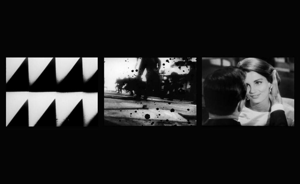 EVE-RAY-FOREVER (1965/2006, three-channel video installation, b&w/silent, 3:42 min./4:11 min./3:45 min. looped); © Conner Family Trust, San Francisco