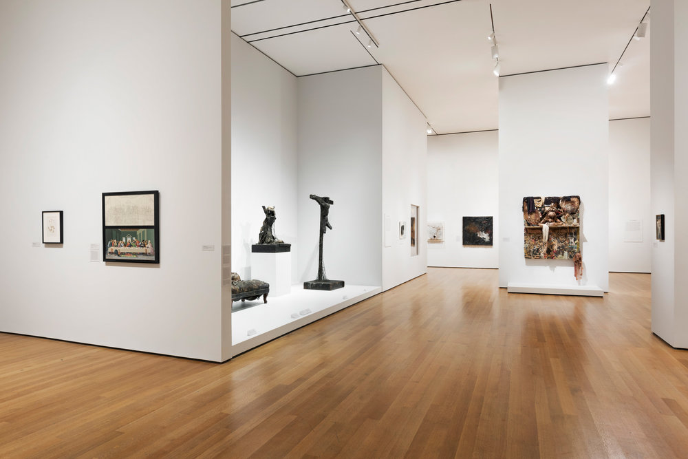 Installation view of BRUCE CONNER: IT'S ALL TRUE. The Museum of Modern Art, New York, July 3-October 2, 2016. © 2016 The Museum of Modern Art. Photo: Martin Seck