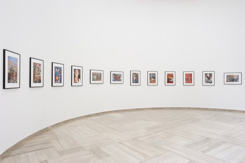 Bruce Conner, THIRTEEN COLOR PUNK PHOTOS , 1978-2012, 13 pigmented inkjet prints, Courtesy The Conner Family Trust and Paula Cooper Gallery, photo: Markus Krottendorfer