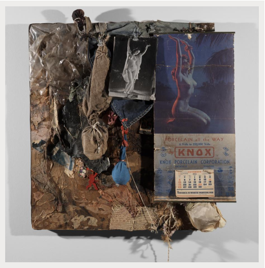 Bruce Conner, KNOX, 1963, Mixed media,Dallas Museum of Art, Dallas, TX, TWO x TWO for AIDS and Art Fund,© 2016 Conner Family Trust, San Francisco / Artists Rights Society (ARS), New York.
