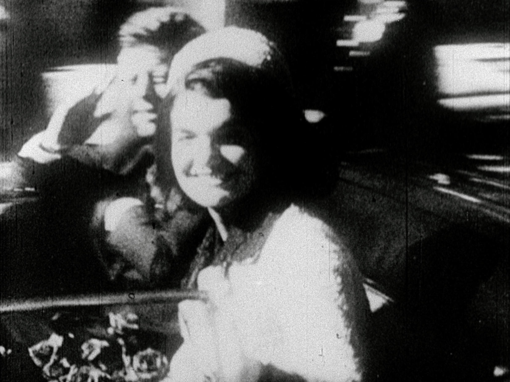 Film still: Report (1963-67, 16mm, b&w/sound 13 min). Courtesy the Conner Family Trust © Conner Family Trust, San Francisco / Artists Rights Society (ARS), New York