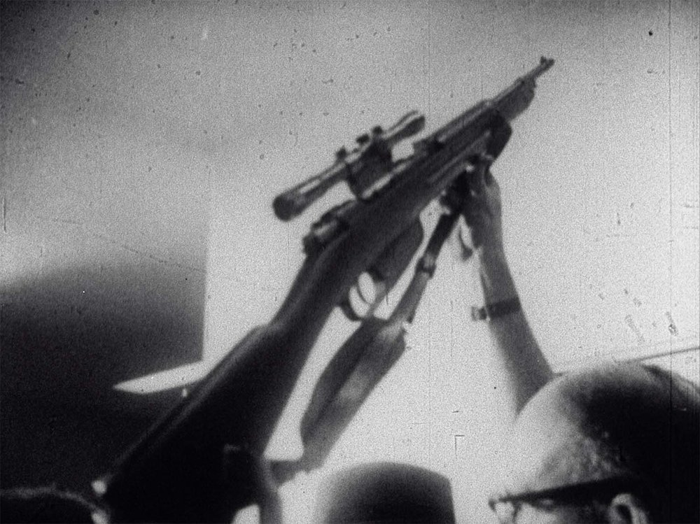 Bruce Conner, REPORT (1963-1967, 16mm, b&w/sound, 13min), © Conner Family Trust, San Francisco, California