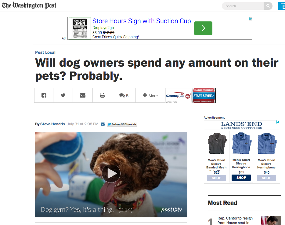 Washington Post Online, July 29 2014