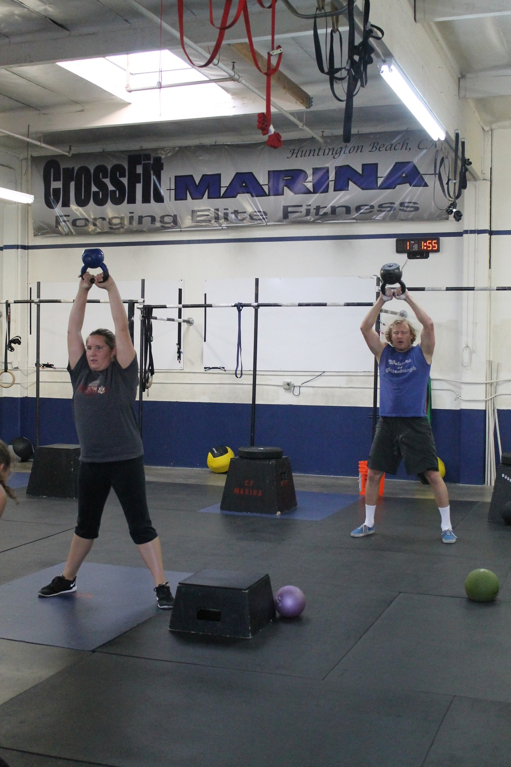 Kara & Eric working hard in the 5:15 class.