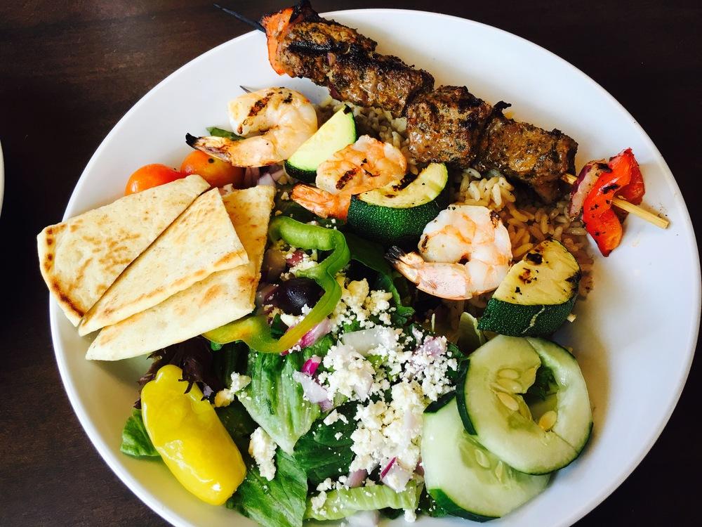 Steak and Shrimp Kebbab