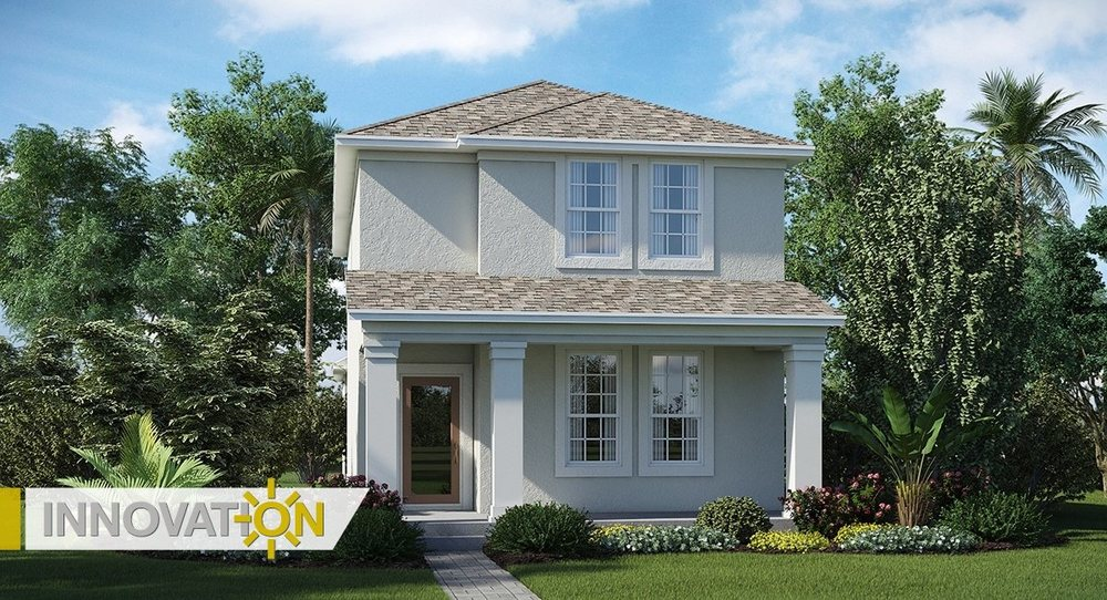 "Modelo ""Lexington"" das ""Cottage Homes"" do condomínio Innovation at Storey Park."