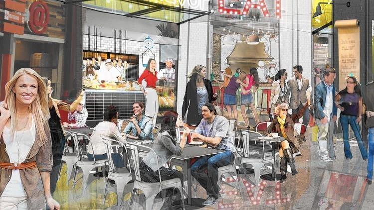 Arte do futuro Eat Street food hall no Artegon Marketplace. Esperado para ser inaugurado na primeira metade de 2017. - Original Credit: Handout from Artegon Marketplace - Original Source: Artegon Marketplace (Handout from Artegon Marketplace / Courtesy photo)