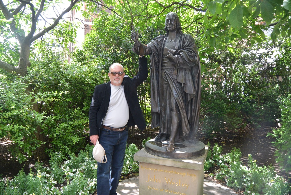 John Wesley statue at St. Paul's Cathedral