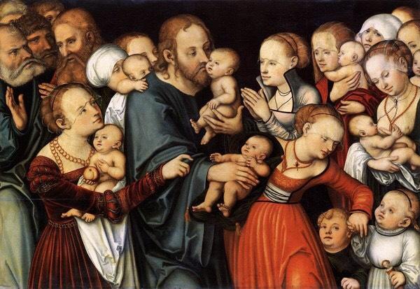 """Cranach's  """"Let the Little Children Come"""""""
