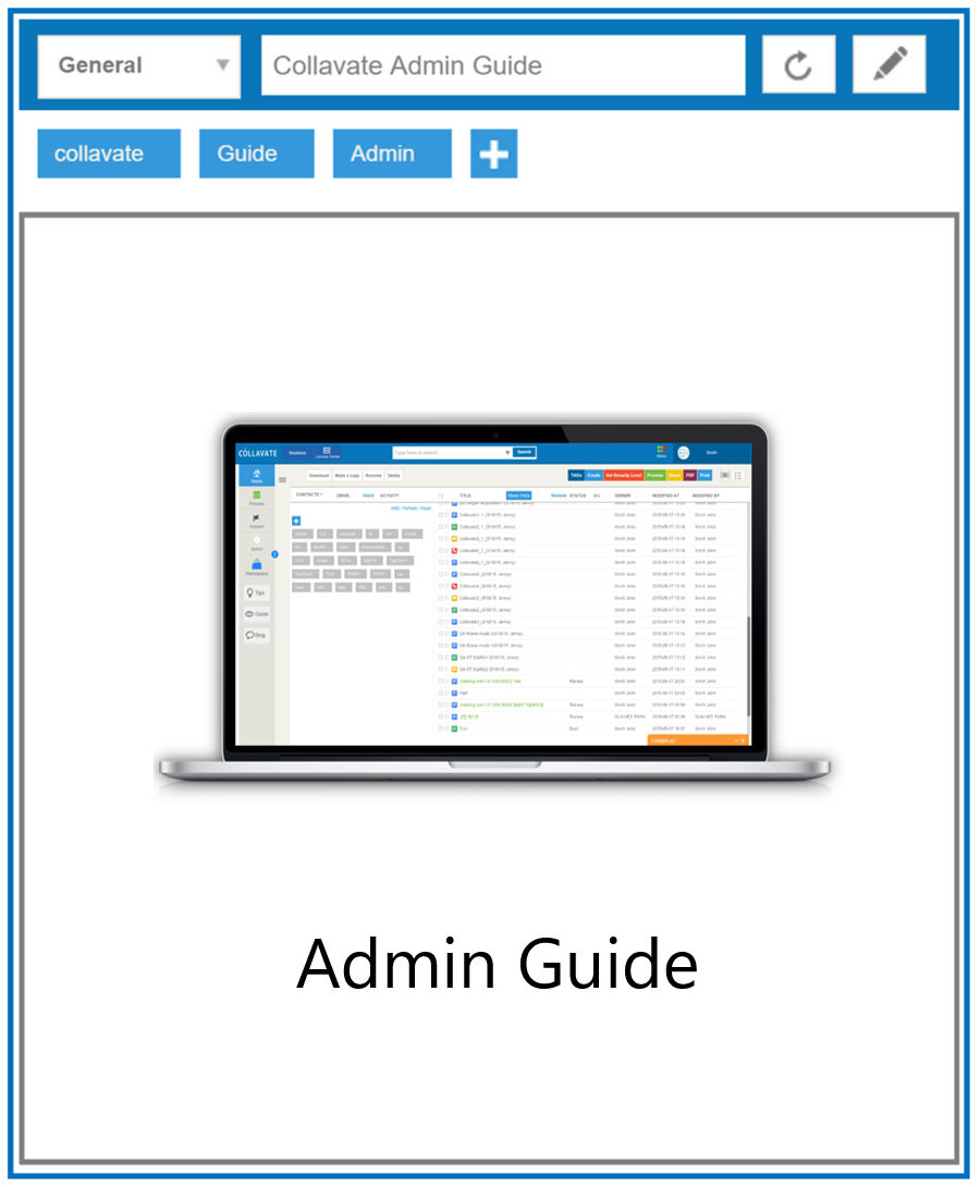 Collavate Admin Guide