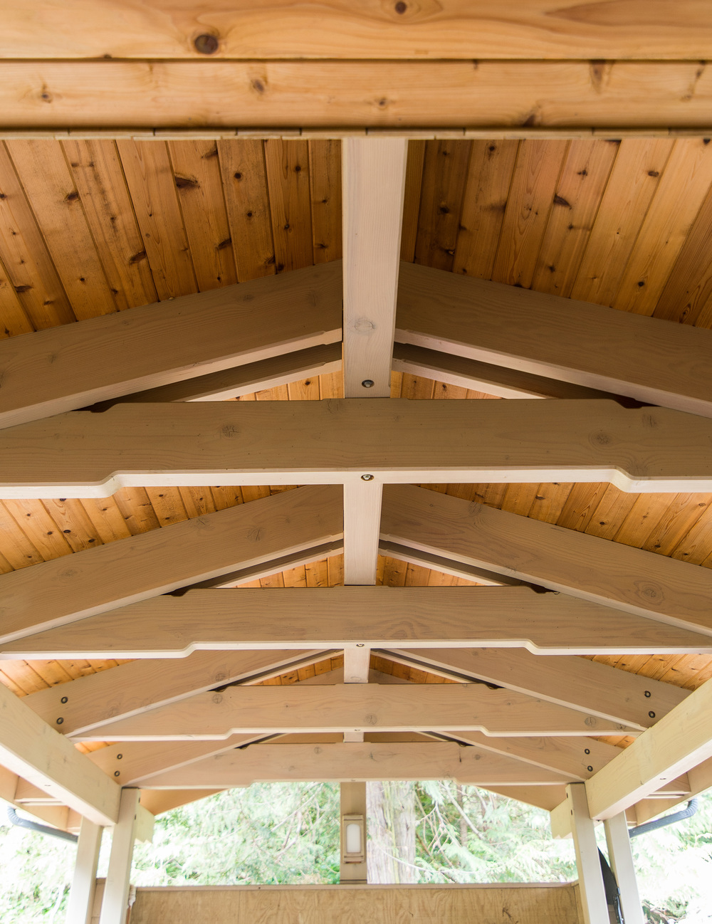 Beam work in Portecochere, also seen in picture number 2, was not in the original drawings, but I convinced the client this along with circle driveway would be great addition.....Eldon did a fantastic job detailing this home. Truly miss working with him.
