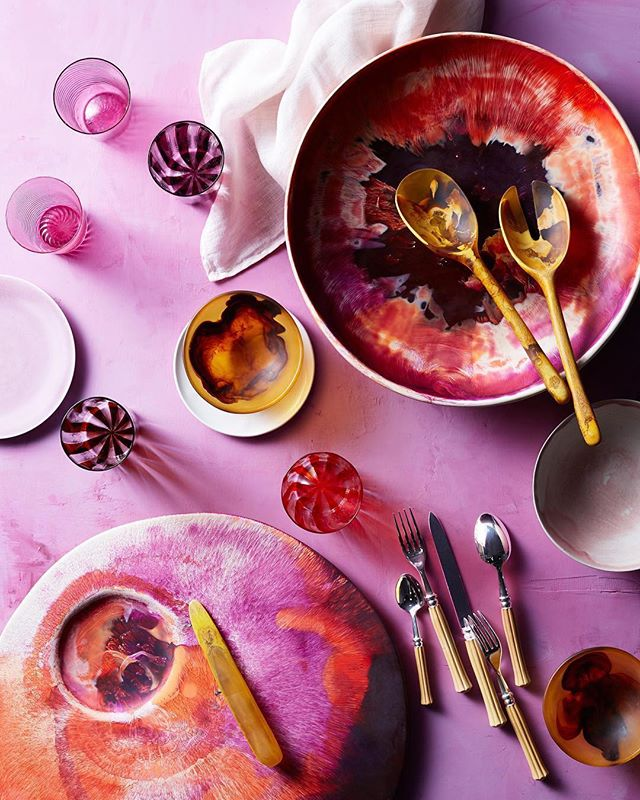 #tbt to this shot for @elledecor and @modaoperandi bc I'm still obsessed with it. 💕  #Repost @elledecor ・・・ The bold and bright table necessities from @modaoperandi you need this spring. #ModaAbode