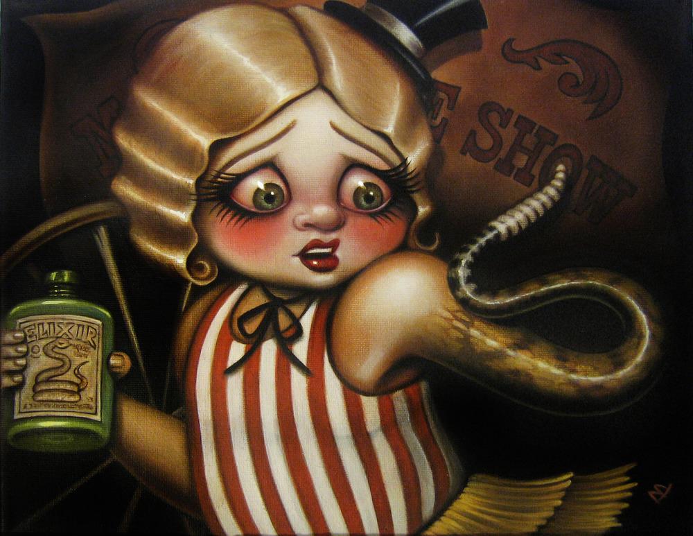 Snake Oil Sales Girl