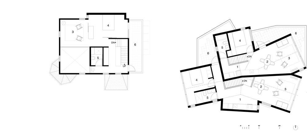 Second Floor     1 Kitchen  2 Dining Room  3 Living Room  4 Bedroom  5 Bathroom  6 Patio