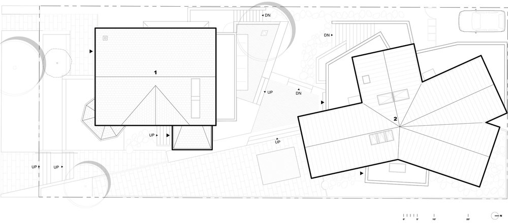 Site Plan    1  The Big House  2  The infill
