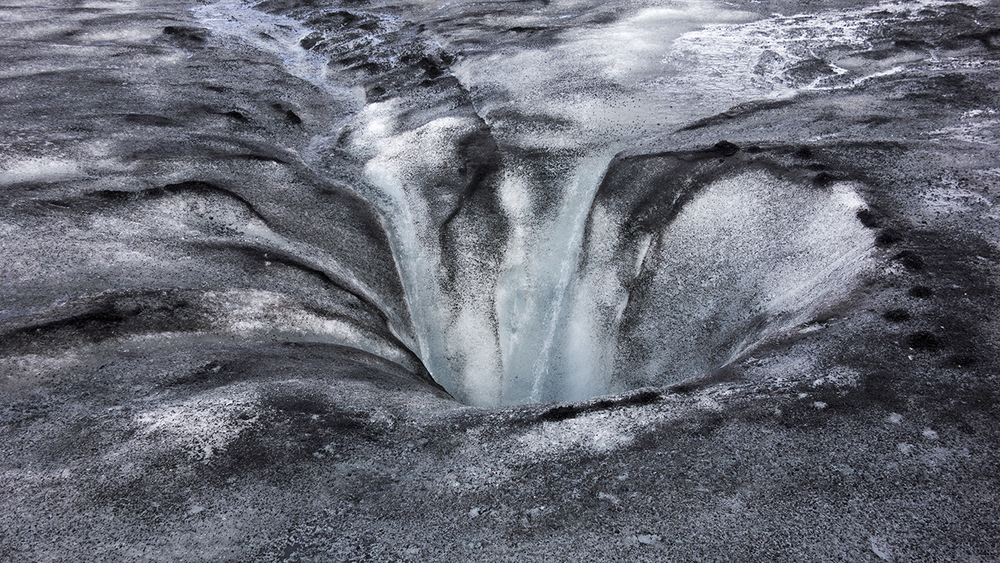 Glacial sink hole