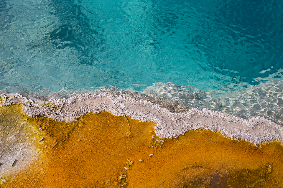 edge detail, Black Pool, Yellowstone, Wyoming
