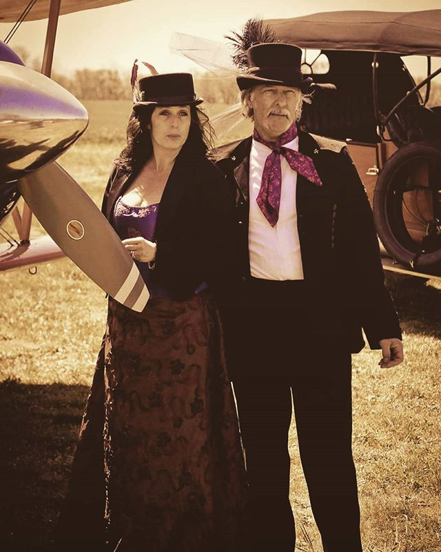 A wonderful day to take a ride, whether it be a #greatlakesbiplane from William Stockyl  1910 #thomasflyer Wardrobe from #steampunkworks  #antiqueautomobile #biplane #steampunk #steampunkstyle #steampunkfashion #wardrobe #props #jasonwattsphotography #jasonwatts  #taildraggerinn  www.steampunkworks.com