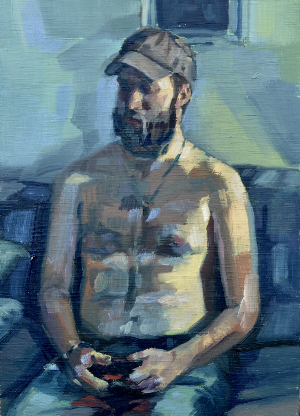 Figure Study of Peter,   2017  Oil on Panel