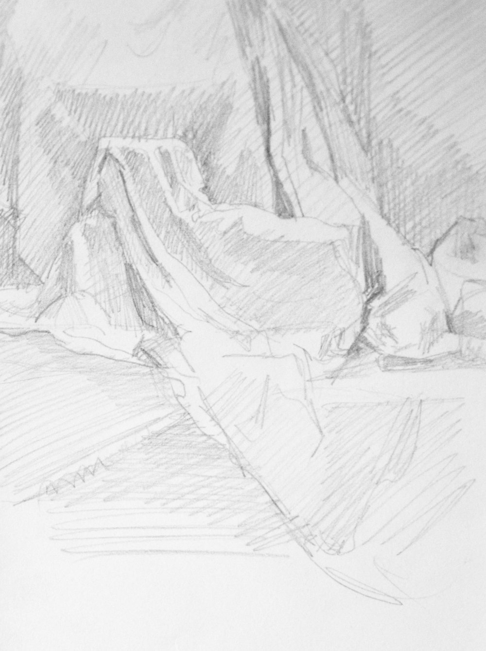 Drapery Study,   2017  Graphite on paper