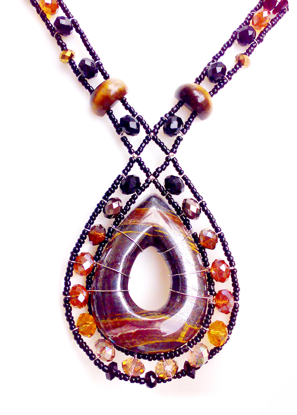 Stone-Drop Tiger Iron Jasper