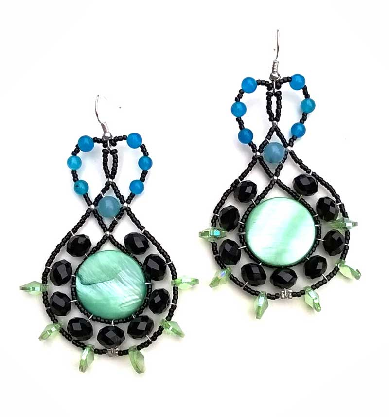 Lucky Charm Green- earrings
