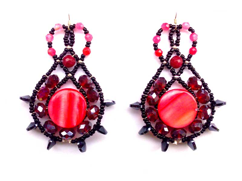Lucky Charm Ruby - earrings