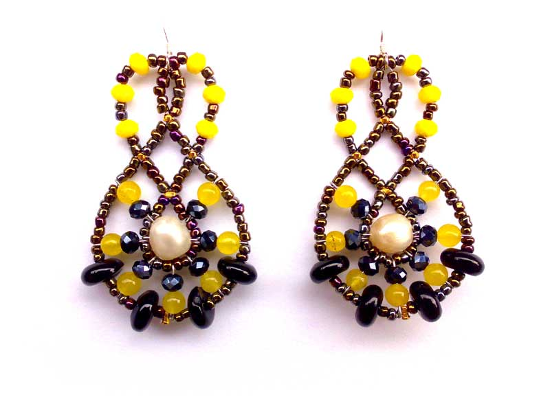 Mini Lucky Charm Yellow - earrings