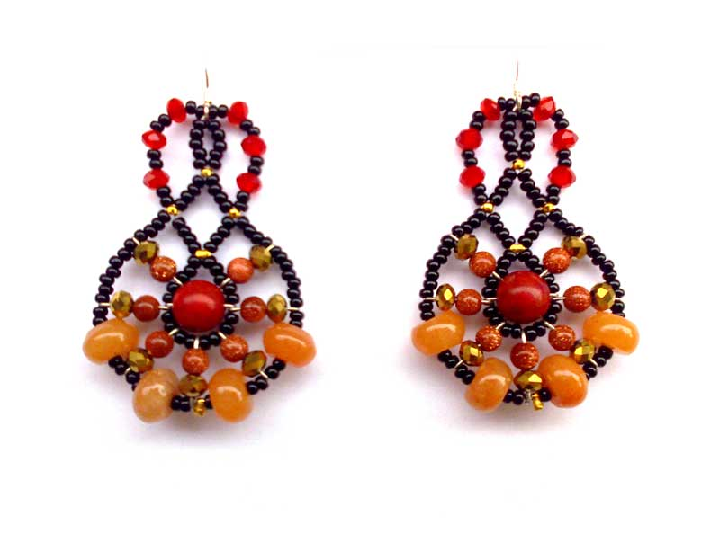 Mini Lucky Charm Coral - earrings