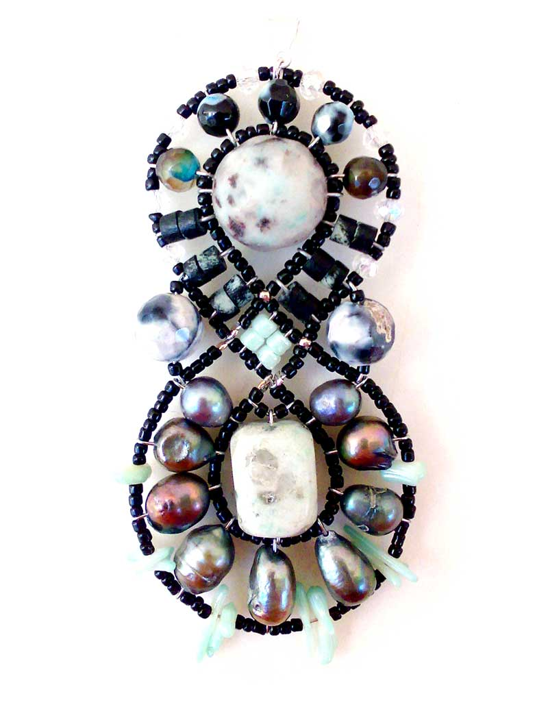 Galaxy Kiwi Stone - pendant