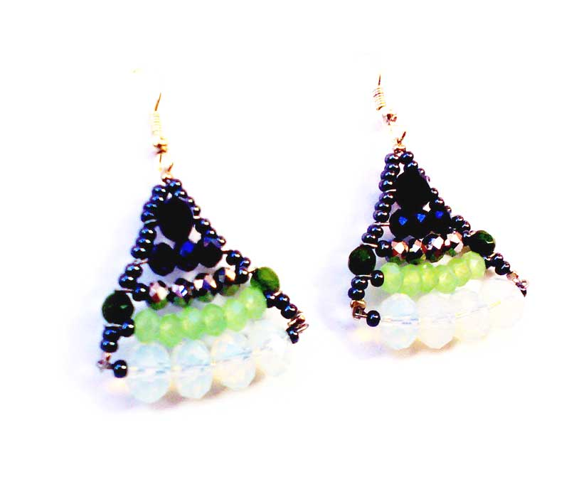 Little Mermaid Green - earrings