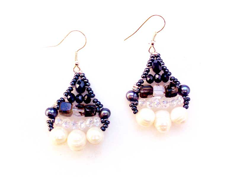 Little Mermaid Quartz & Pearl - earrings